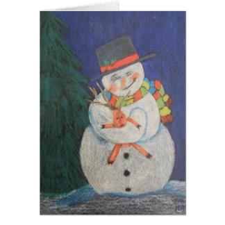 Snowmen Love Card