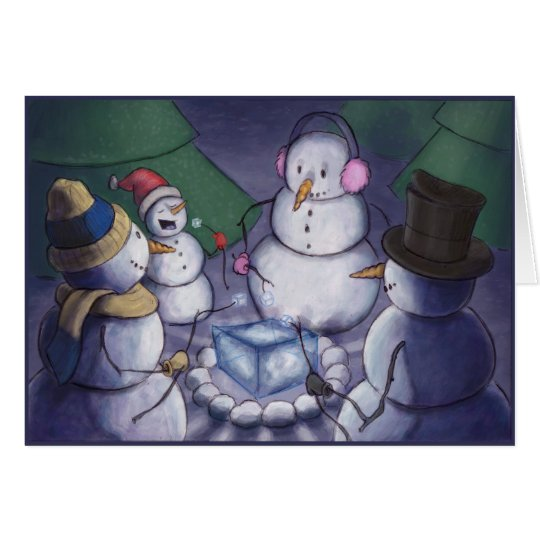 Snowmen Out Camping Card