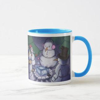 Snowmen Out Camping Mug