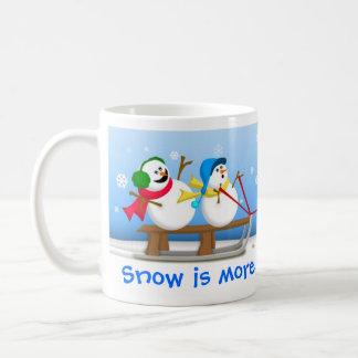 Snowmen Sledding Mug