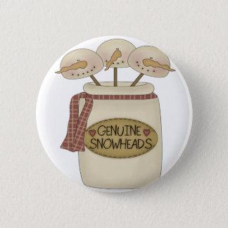 Snowmen Snowheads 2 Inch Round Button