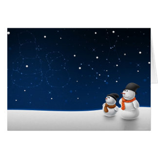 Snowmen Stargazing Card