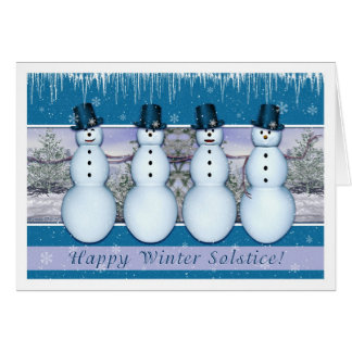 Snowmen - Winter Solstice/Yule Card