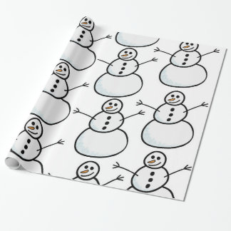 Snowmen Wrapping Paper