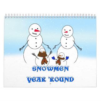 SNOWMEN YEAR 'ROUND WALL CALENDARS