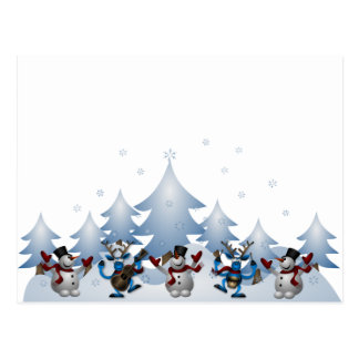 Snowmens & Reindeers Postcard