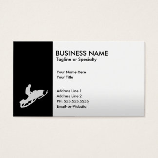 snowmobile business card