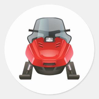 Snowmobile Classic Round Sticker