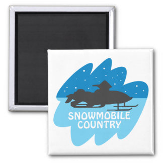 Snowmobile Country Magnet