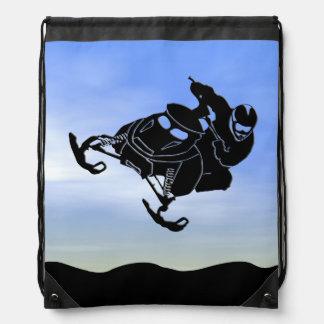 Snowmobile Drawstring Bag