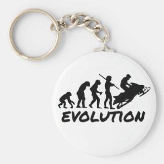 Snowmobile Evolution Basic Round Button Keychain