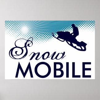 snowmobile extrèmement haut poster