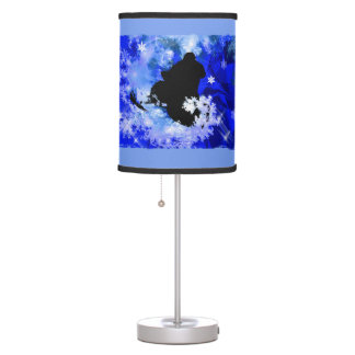 Snowmobile in Avalanche ANY COLOR BACKGRND Table Lamp