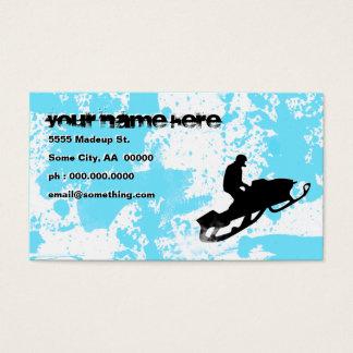 snowmobile : powder trail : business card