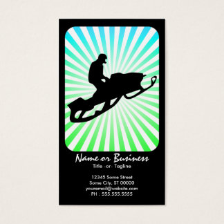 snowmobile retro rays business card