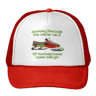Snowmobile Rider Christmas Trucker Hat