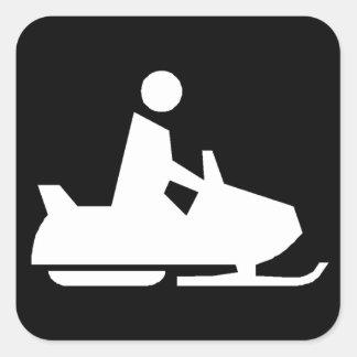 Snowmobile Square Sticker