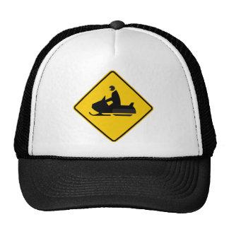 Snowmobile Traffic Highway Sign Trucker Hat