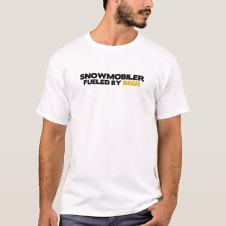 Snowmobiler Fueled by Beer T-Shirt