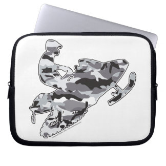 Snowmobiler in Grey Camo Computer Sleeve