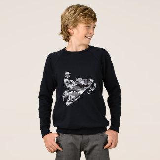Snowmobiler in Grey Camouflage Sweatshirt