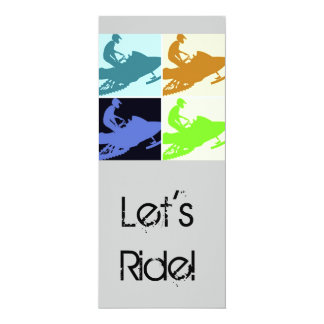 Snowmobiler/Let's Ride! Card
