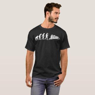Snowmobiler Snowmobiling Human Evolution Tshirt