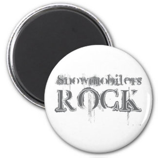 Snowmobilers Rock Magnet