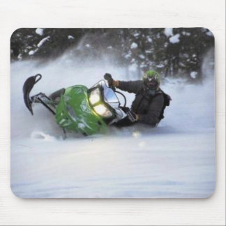 Snowmobiles Mouse Pad