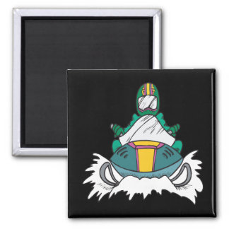 Snowmobiling 3 square magnet
