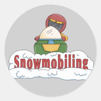 Snowmobiling Classic Round Sticker