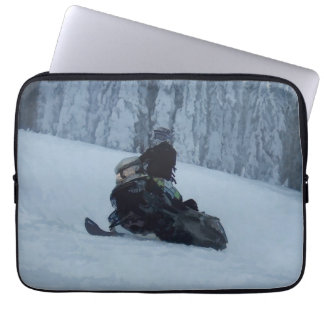 Snowmobiling Fool  - Snowmobiler Laptop Sleeve