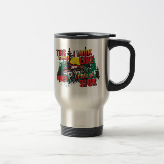 Snowmobiling Humor Travel Mug