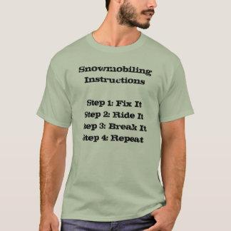 """Snowmobiling Instructions"" Sledders.com T-shirt"