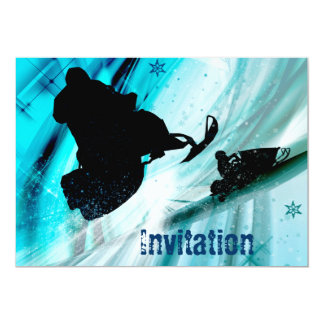 Snowmobiling on Icy Trails Card