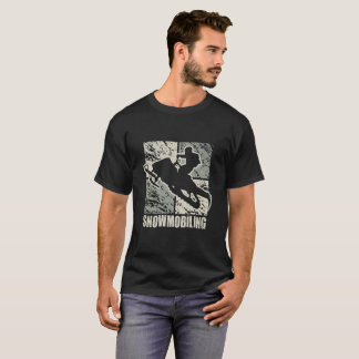 Snowmobiling Stunt Art Deco T-Shirt