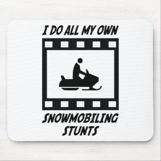 Snowmobiling Stunts Mouse Pad