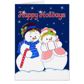 Snowpeople1 Card