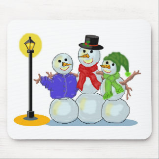 Snowpeople Singers Trio Mouse Pad