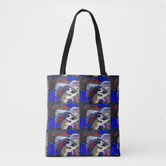 Snowshoe Afterglow Kitty Tote Bag