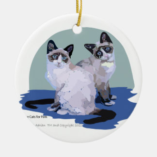 Snowshoe Cats Are We Ceramic Ornament