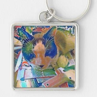 snowshoe crafting kitty keychain