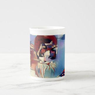 snowshoe Deep Tones Kitty Tea Cup