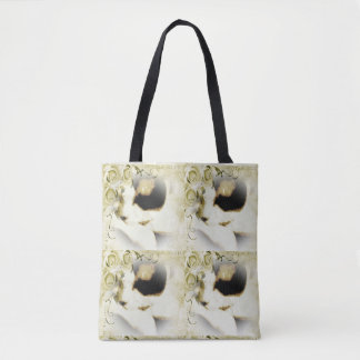 Snowshoe Golden Roses Kitty Tote Bag