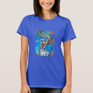 Snowshoe Painted Rainbow Kitty T-Shirt
