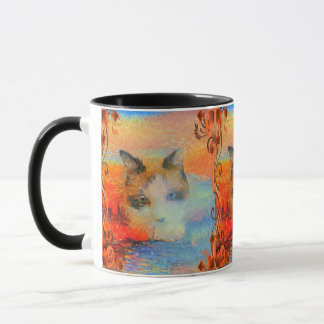 Snowshoe Sleepy Dreamy Kitty Mug