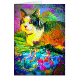 Snowshoe Spring Pond Colors Kitty Card