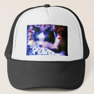 snowshoe Valentines I Love You Kitty Trucker Hat