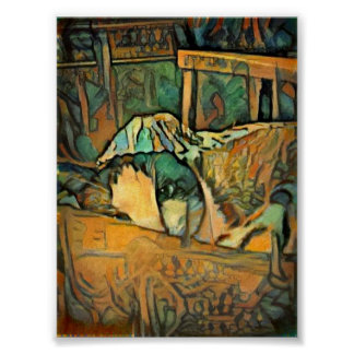 Snowshoe Woodsy Rustic Kitty Poster