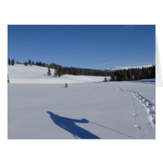 Snowshoeing in Yellowstone National Park Card